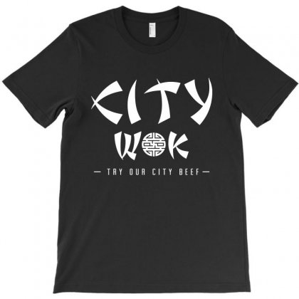 City Wok On White T-shirt Designed By Rosdiana Tees