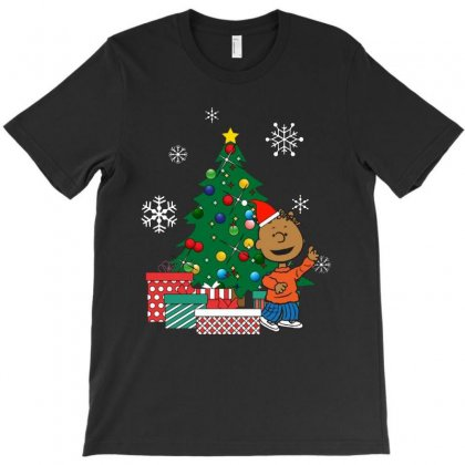 Franklin Peanuts Around The Christmas Tree T-shirt Designed By Rosdiana Tees