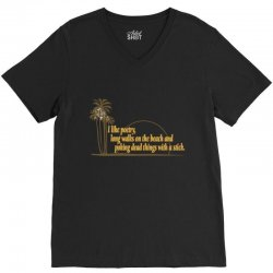i like poetry V-Neck Tee | Artistshot