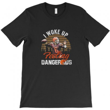 Dangerous Football Feeling Football T-shirt Designed By Ursulart
