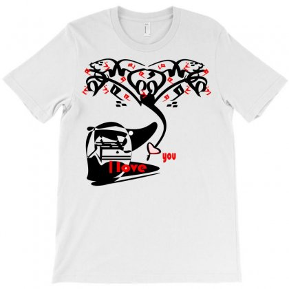 Love You T-shirt Designed By Nowlam