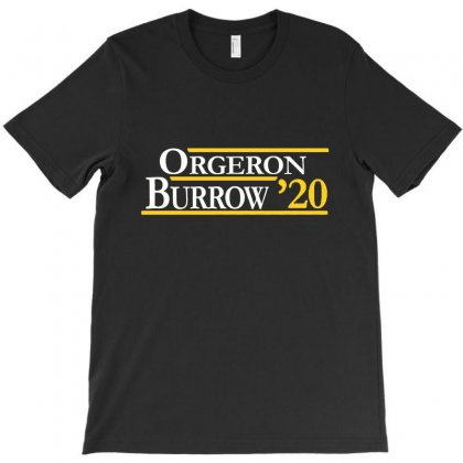 Orgeron And Burrow In 2020 For Dark T-shirt Designed By Rosdiana Tees