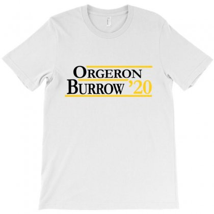 Orgeron And Burrow In 2020 For Light T-shirt Designed By Rosdiana Tees