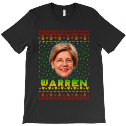 President 2020 Elizabeth Warren Face Ugly Christmas T-shirt Designed By Rosdiana Tees