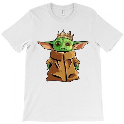 The Mandalorian Baby Yoda Funny King Gildan T-shirt Designed By Rosdiana Tees