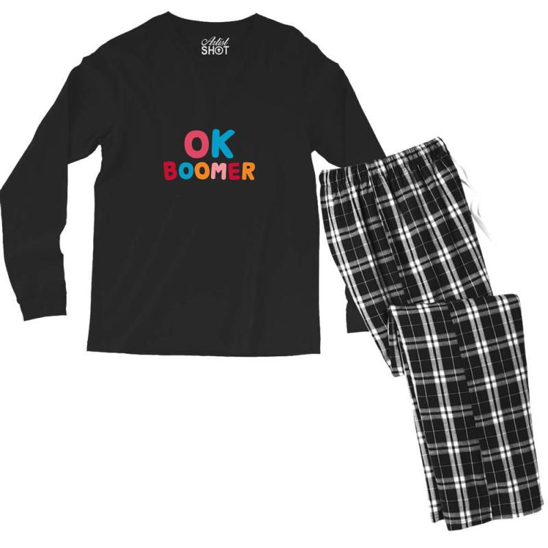 Ok Boomer Men's Long Sleeve Pajama Set | Artistshot