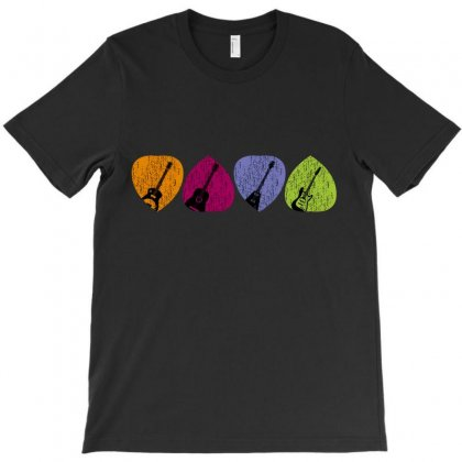 Colours Guitars Pastel T-shirt Designed By Wizarts