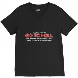 to hell V-Neck Tee | Artistshot