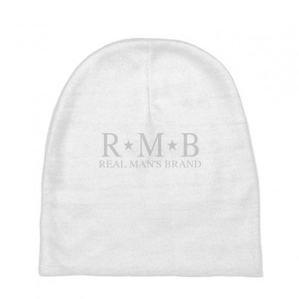 Rmb Real Man's Brand Grey Baby Beanies Designed By Realmansbrand