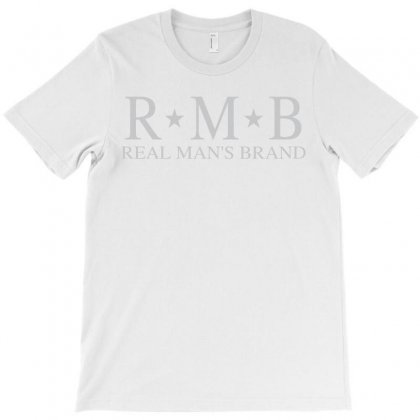 Rmb Real Man's Brand Grey T-shirt Designed By Realmansbrand