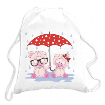 Pig Love Drawstring Bags Designed By Estore