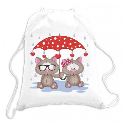 Cat Love Drawstring Bags Designed By Estore