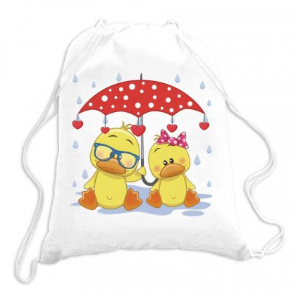 Duck Love Drawstring Bags Designed By Estore