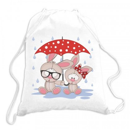 Rabbit Love Drawstring Bags Designed By Estore