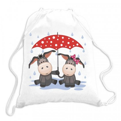 Donkey Love Drawstring Bags Designed By Estore