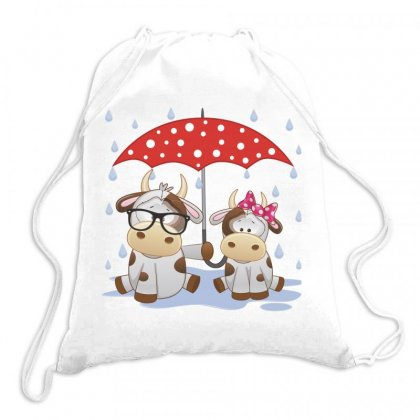 Cow Love Drawstring Bags Designed By Estore