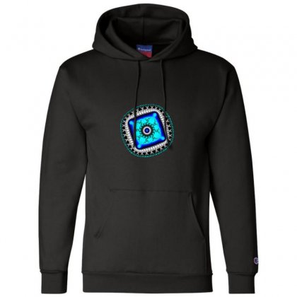Fractal Eye Champion Hoodie Designed By Zykkwolf