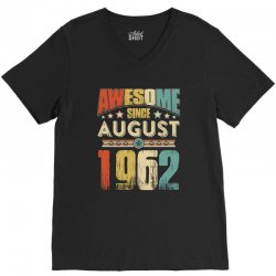 awesome since august 1962 shirt V-Neck Tee | Artistshot