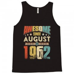 awesome since august 1962 shirt Tank Top | Artistshot