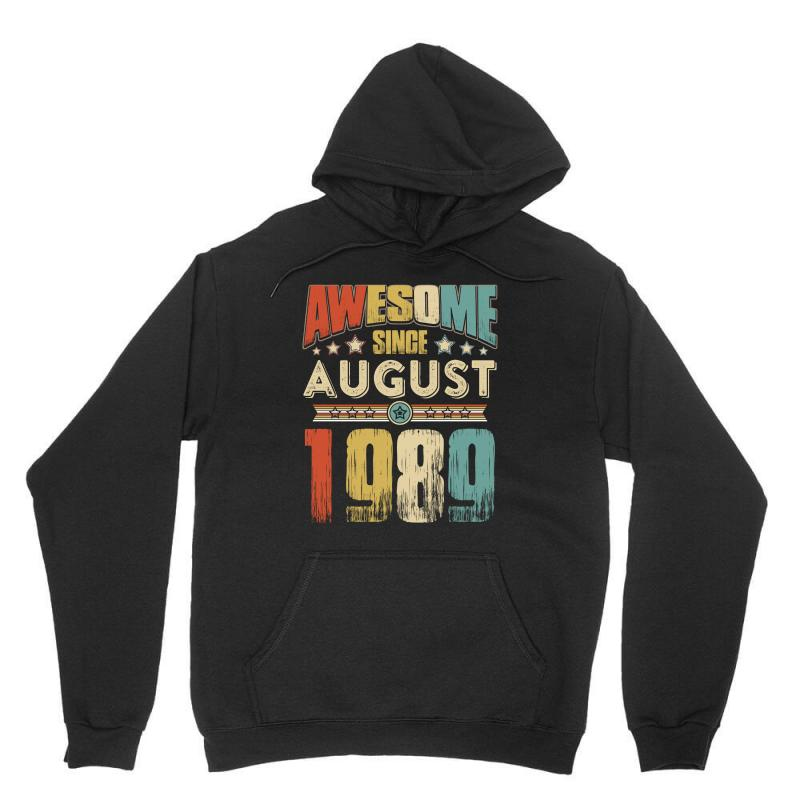 Awesome Since August 1989 Shirt Unisex Hoodie | Artistshot
