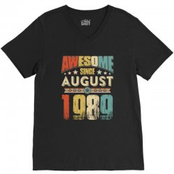 awesome since august 1989 shirt V-Neck Tee | Artistshot