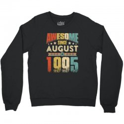 awesome since august 1995 shirt Crewneck Sweatshirt | Artistshot