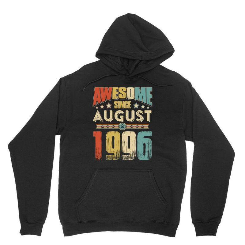 Awesome Since August 1996 Shirt Unisex Hoodie   Artistshot