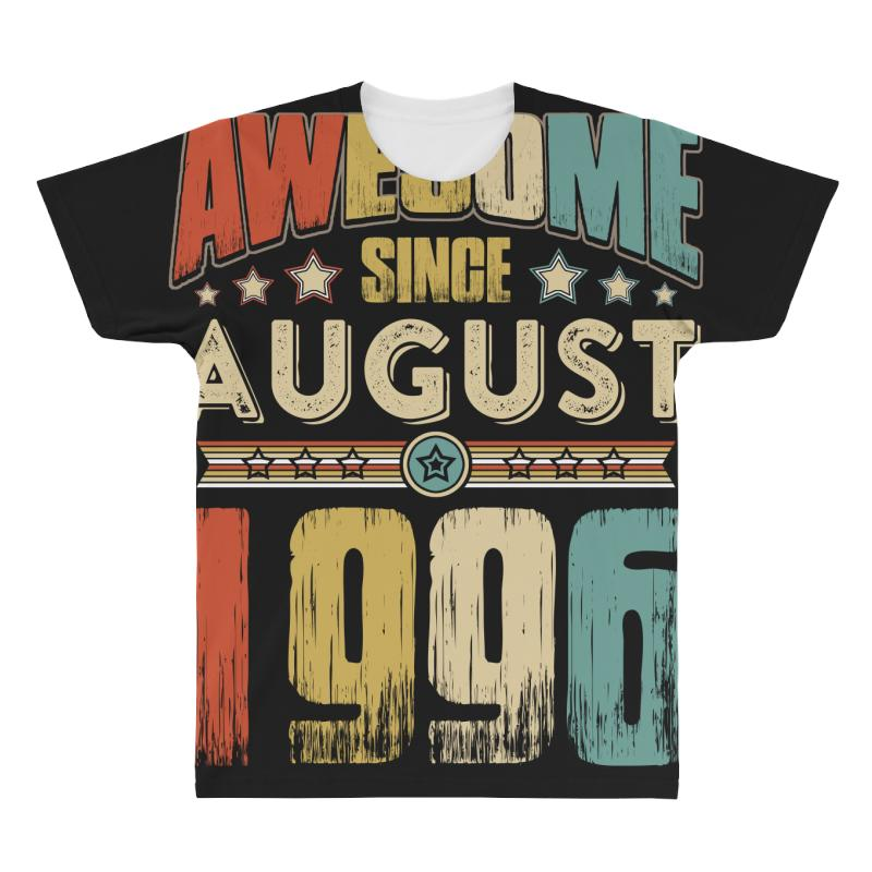 Awesome Since August 1996 Shirt All Over Men's T-shirt   Artistshot