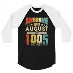 awesome since august 1995 shirt 3/4 Sleeve Shirt | Artistshot