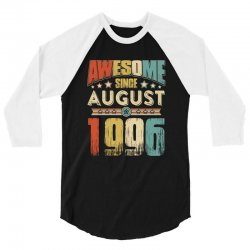 awesome since august 1996 shirt 3/4 Sleeve Shirt | Artistshot