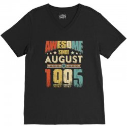 awesome since august 1995 shirt V-Neck Tee | Artistshot