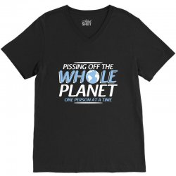 whole planet V-Neck Tee | Artistshot