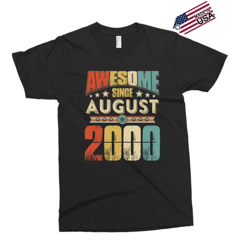 Awesome Since August 2000 Shirt Exclusive T-shirt | Artistshot