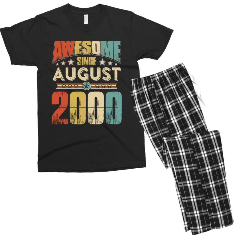 Awesome Since August 2000 Shirt Men's T-shirt Pajama Set | Artistshot