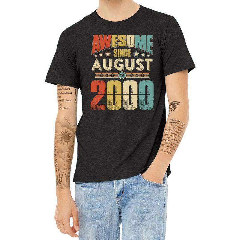 Awesome Since August 2000 Shirt Heather T-shirt | Artistshot