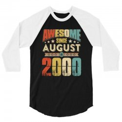 awesome since august 2000 shirt 3/4 Sleeve Shirt | Artistshot