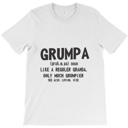 Grumpa Like A Regular Grandpa Only Grumpier T-shirt Designed By K0d1r