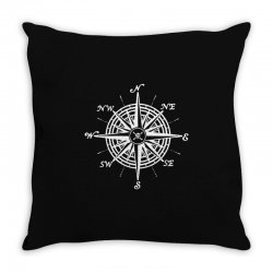 nautical compass Throw Pillow | Artistshot