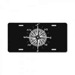 nautical compass License Plate | Artistshot