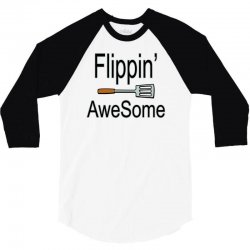 flippin awesome cooking greeting 3/4 Sleeve Shirt | Artistshot