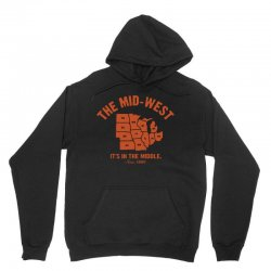 the mid west it's in the middle t shirt michigan shirt ohio shirt kans Unisex Hoodie | Artistshot