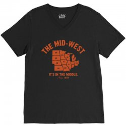 the mid west it's in the middle t shirt michigan shirt ohio shirt kans V-Neck Tee | Artistshot