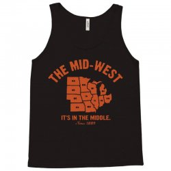 the mid west it's in the middle t shirt michigan shirt ohio shirt kans Tank Top | Artistshot