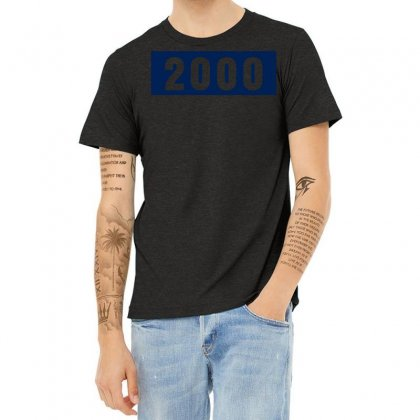 2000 Birthday Year Heather T-shirt Designed By Lyly