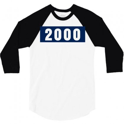 2000 Birthday Year 3/4 Sleeve Shirt Designed By Lyly