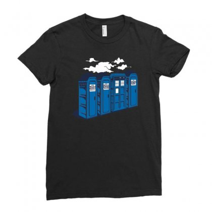 Port A Tardis Ladies Fitted T-shirt Designed By Rendi