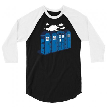 Port A Tardis 3/4 Sleeve Shirt Designed By Rendi