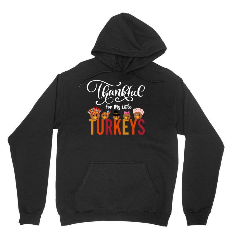 Thankful For My Little Turkeys For Dark Unisex Hoodie | Artistshot