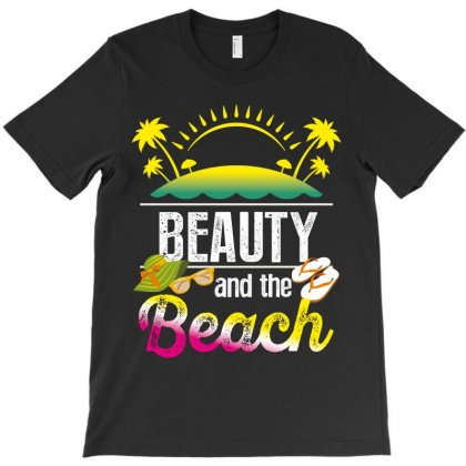 Beauty And The Beach T-shirt Designed By Wizarts