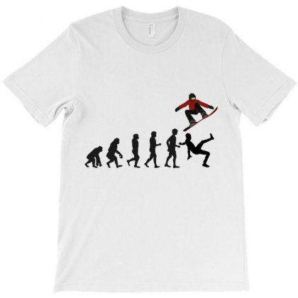 Evolution Snowboard T-shirt Designed By Wizarts